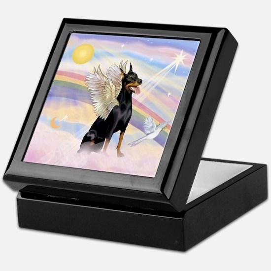 Dobie Angel in Clouds Keepsake Box