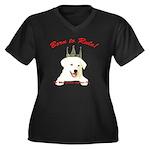 Born to Rule! Women's Plus Size V-Neck Dark T-Shir