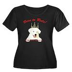 Born to Rule! Women's Plus Size Scoop Neck Dark T-