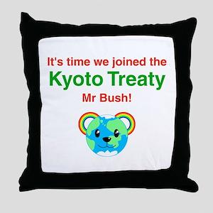 Kyoto Treaty Throw Pillow