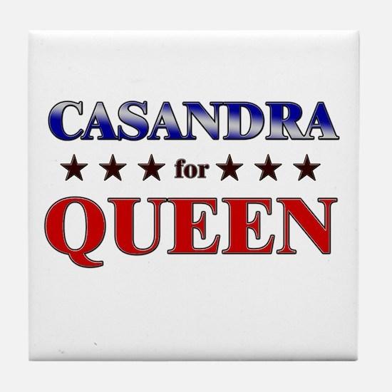 CASANDRA for queen Tile Coaster