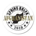 Spring Break Afghanistan 2018 Round Car Magnet