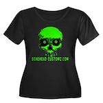 EVIL EYES Women's Plus Size Scoop Neck Dark T-Shir