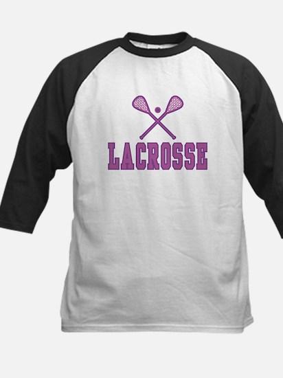 Lacrosse Purple Kids Baseball Jersey