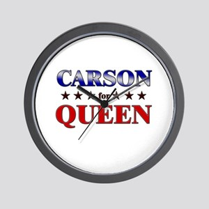 CARSON for queen Wall Clock