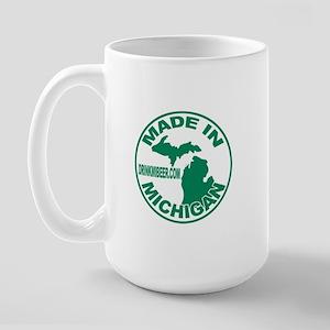 Drink Michigan Beer!  Large Mug