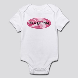 It's A Girl Thing Pink Camo Infant Bodysuit