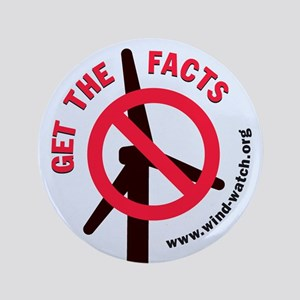 """Get The Facts 3.5"""" Button"""