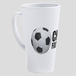 Chile Football 17 oz Latte Mug
