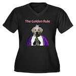 The Golden Rule Women's Plus Size V-Neck Dark T-Sh