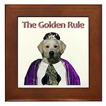 The Golden Rule Framed Tile
