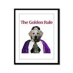 The Golden Rule Framed Panel Print