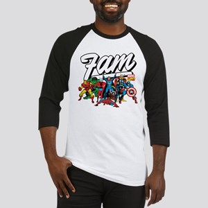 Marvel Comics Fam Baseball Tee