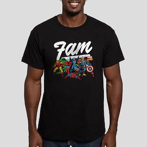 Marvel Comics Fam Men's Fitted T-Shirt (dark)