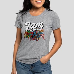 Marvel Comics Fam Womens Tri-blend T-Shirt