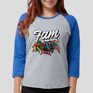 Marvel Comics Fam Womens Baseball Tee