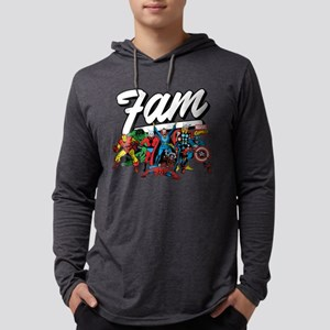 Marvel Comics Fam Mens Hooded Shirt