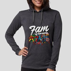 Marvel Comics Fam Womens Hooded Shirt