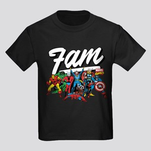 Marvel Comics Fam Kids Dark T-Shirt