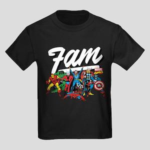 Marvel Comics Fam Kids Dark T-Shirt