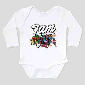 Marvel Comics Fam Long Sleeve Infant Bodysuit