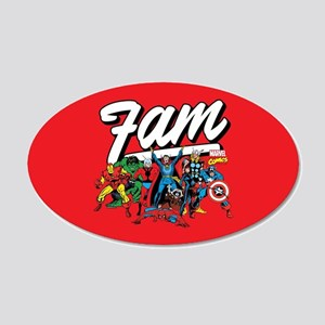 Marvel Comics Fam 20x12 Oval Wall Decal
