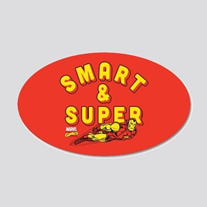 Iron Man Super 20x12 Oval Wall Decal