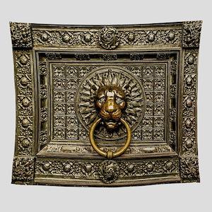 Doorknocker Lion Brass Wall Tapestry
