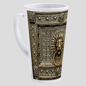 Doorknocker Lion Brass 17 oz Latte Mug
