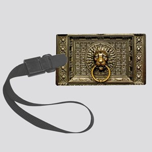 Doorknocker Lion Brass Large Luggage Tag