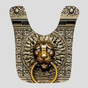 Doorknocker Lion Brass Polyester Baby Bib