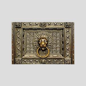 Doorknocker Lion Brass 4' x 6' Rug