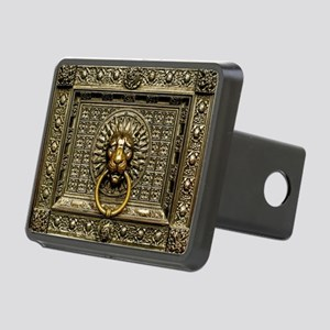 Doorknocker Lion Brass Rectangular Hitch Cover