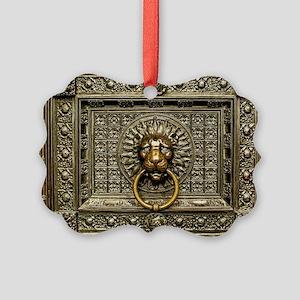Doorknocker Lion Brass Picture Ornament