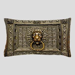 Doorknocker Lion Brass Pillow Case
