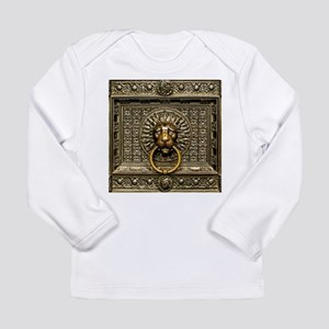 Doorknocker Lion Brass Long Sleeve Infant T-Shirt