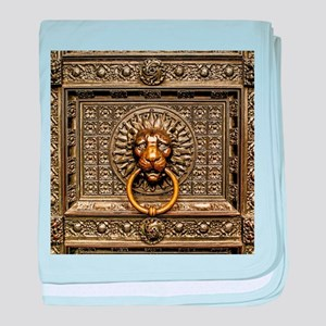 Doorknocker Lion Brass baby blanket