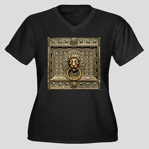 Doorknocker Women's Plus Size V-Neck Dark T-Shirt