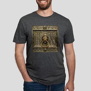 Doorknocker Lion Brass Mens Tri-blend T-Shirt