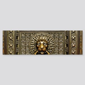 Doorknocker Lion Brass Sticker (Bumper)