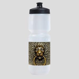 Doorknocker Lion Brass Sports Bottle