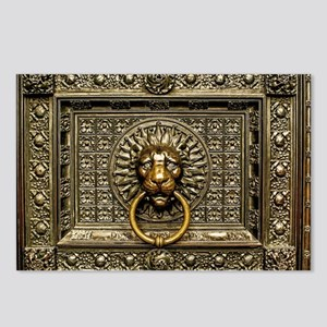 Doorknocker Lion Brass Postcards (Package of 8)