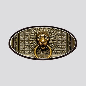Doorknocker Lion Brass Patch