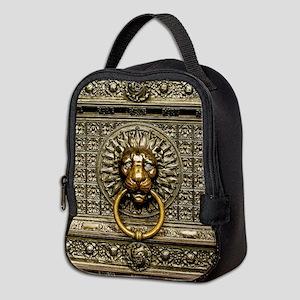 Doorknocker Lion Brass Neoprene Lunch Bag