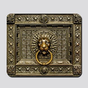 Doorknocker Lion Brass Mousepad