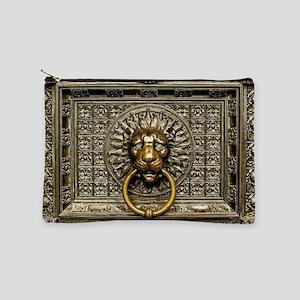 Doorknocker Lion Brass Makeup Bag