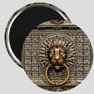 Doorknocker Lion Brass Magnet