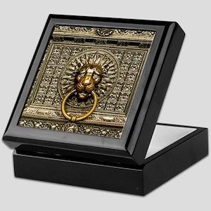 Doorknocker Lion Brass Keepsake Box