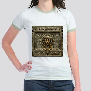 Doorknocker Lion Brass Jr. Ringer T-Shirt