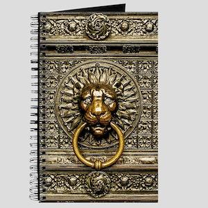 Doorknocker Lion Brass Journal